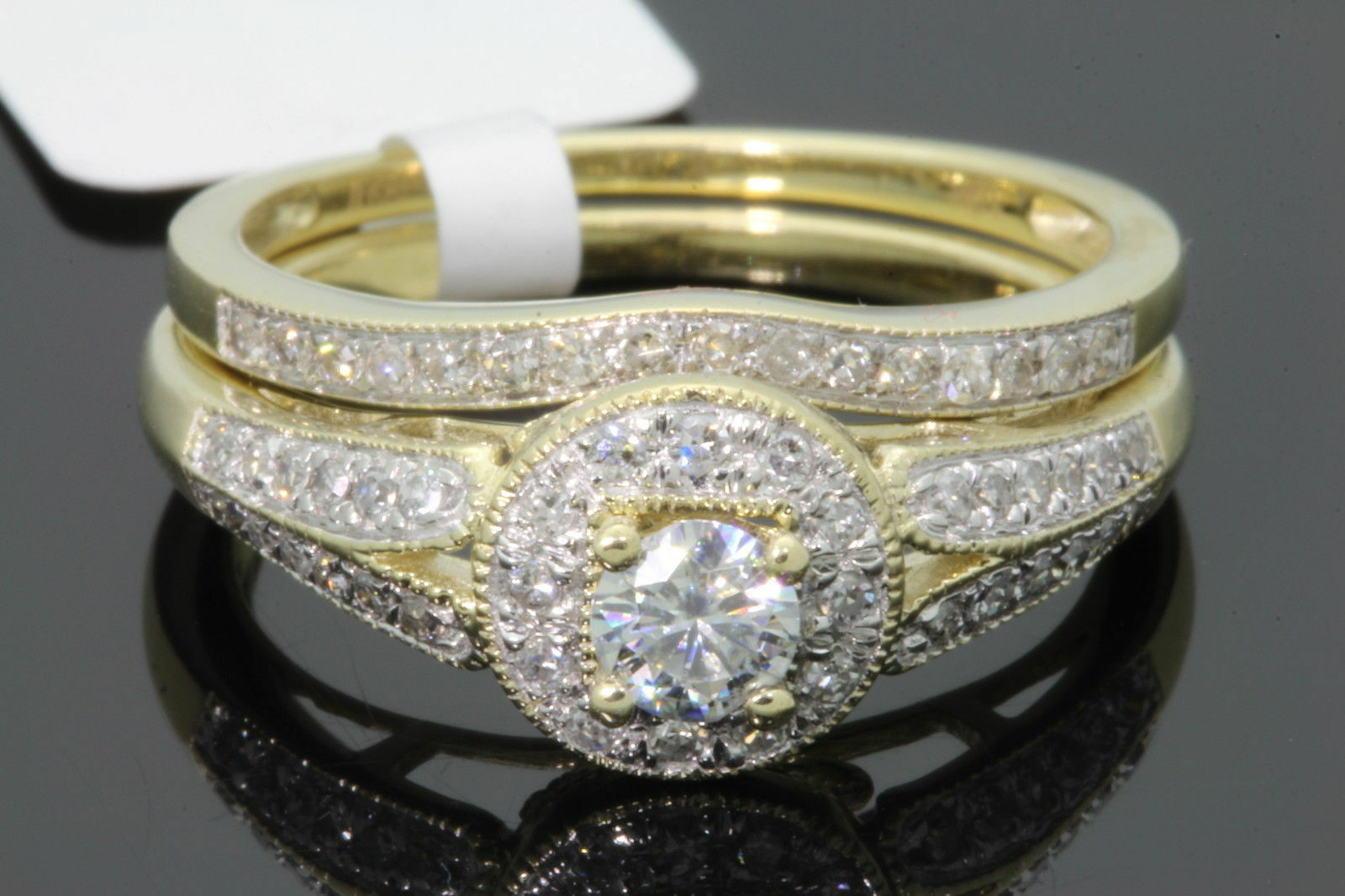 10k yellow gold 48 carat womens real diamond engagement. Black Bedroom Furniture Sets. Home Design Ideas