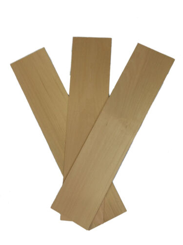 American Lime Bass Wood Panels 100mm x 450mm x 0.8mm Pack of 3 Sheets BAS0X3