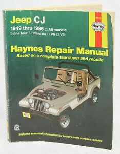 haynes jeep cj 1949 1986 repair manual 50020 ebay rh ebay ie Used Cj7 Jeeps Sale CJ5 Jeep with Mercedes Diesel