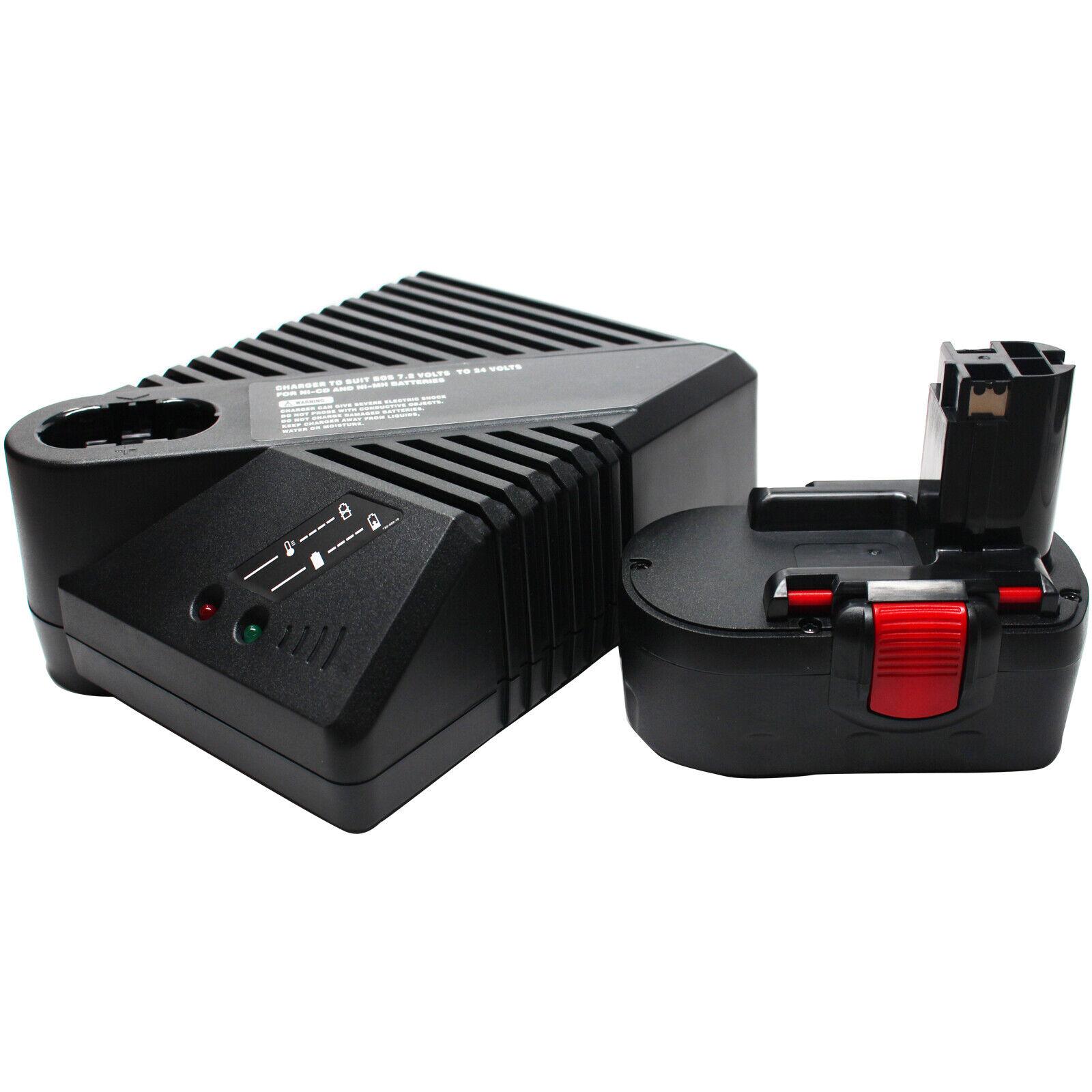 18V Battery 1.3Ah & UniCharger for Bosch 13618, 3860K, GDR 18 V GSB 18 VE-2 3453