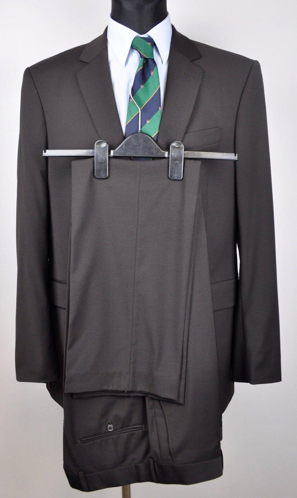TIGER OF SWEDEN Wool Blend Brown Suit Size 152 Blazer 150 Pants W35 L33 Trousers