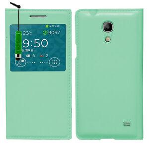 Etui-Coque-Housse-Plastique-VERT-View-Case-Samsung-SM-G3518-Galaxy-Core-TD-LTE