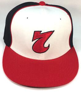 c421dd5fa Red 7 Red Button Seven Black/white/red Baseball Hat Cap L-XL Flex ...