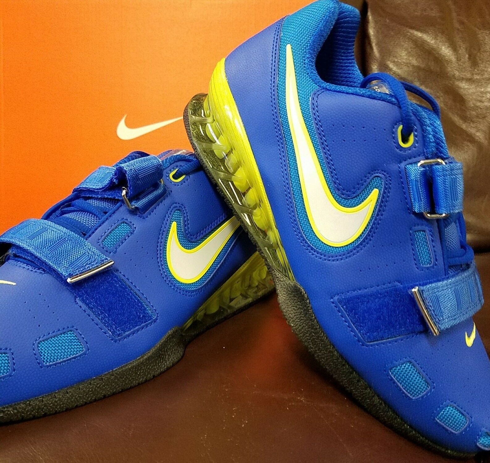 BRAND NEW IN BOX! NIKE ROMALEOS 2 MENS WEIGHTLIFTING SHOES BLUE WHITE SWOOSH 417 Cheap women's shoes women's shoes