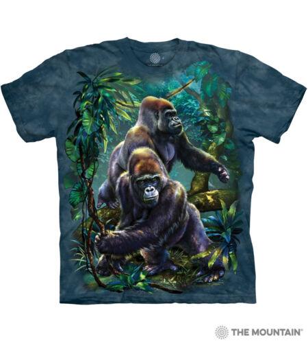 The Mountain Tami Alba Gorilla Jungle Zoo Animals Collage Men/'s Tee Shirt 105912