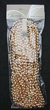 Christmas Beaded Garland Decoration Warm Gold 270cm Wedding Bead Garland
