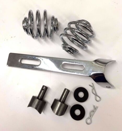 "2/"" CHROME SOLO SEAT MOUNT KIT springs bracket weld bungs harley triumph xs cb RD"