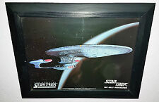 3 Star trek individual framed prints, NCC1701A, NCC1701D AND DS9