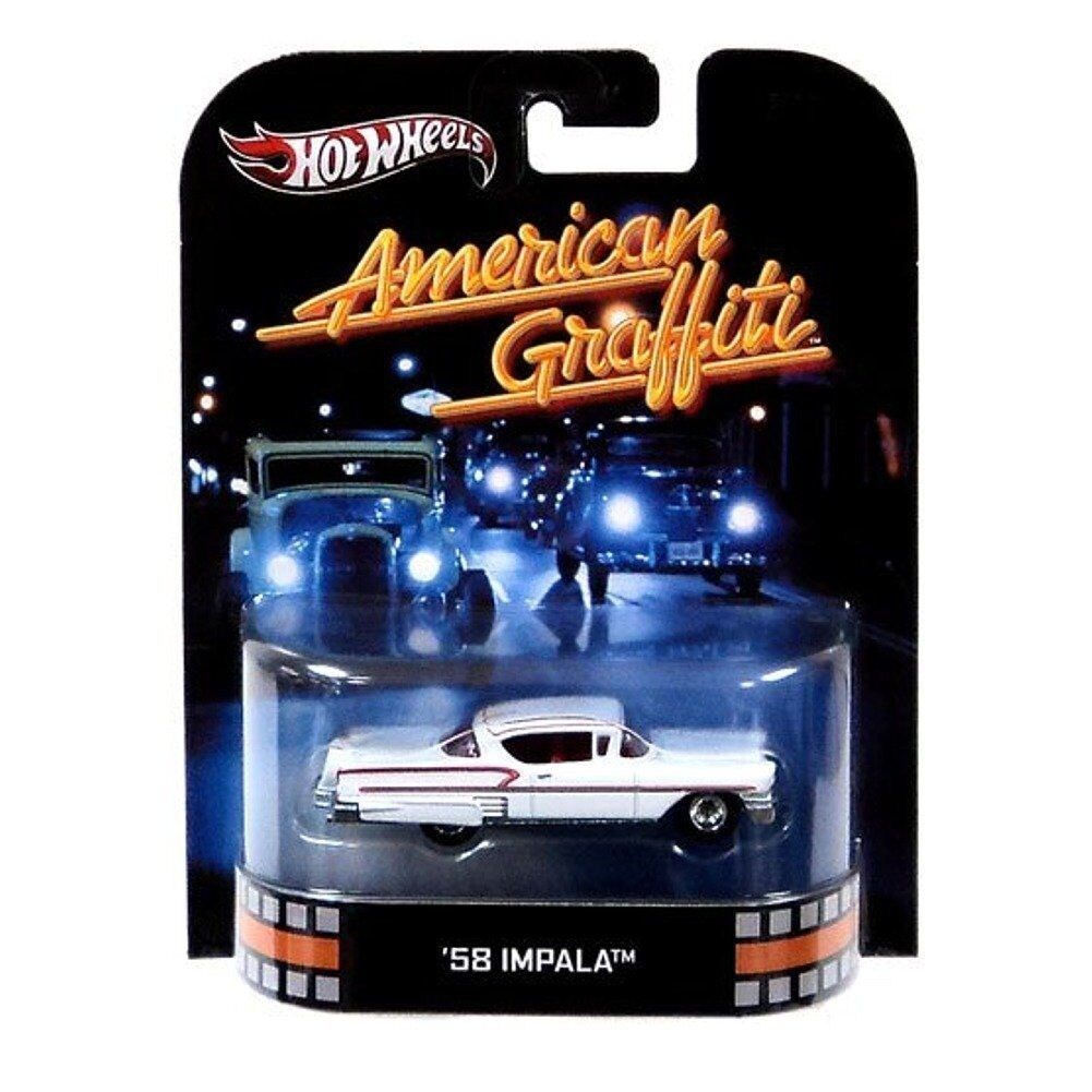 Hot Wheels Retro American Graffiti 1 64 Die Cast Cast Cast Car '58 Impala d048bd