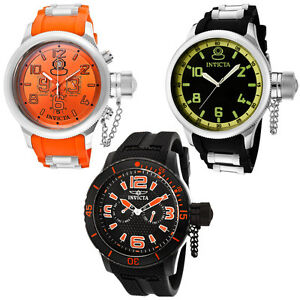 Invicta-Watch-1346-1433-1795-Men-039-s-Russian-Diver-Specialty