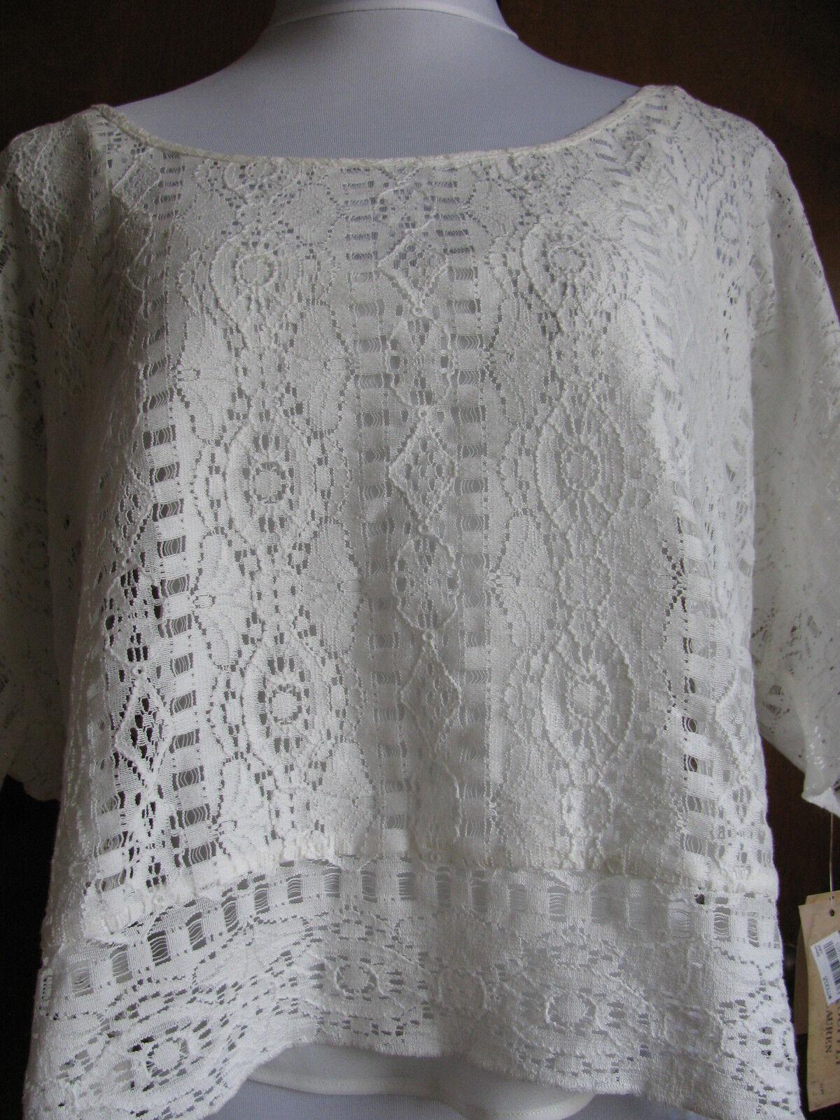 Ralph Lauren Denim & Supply damen's Weiß cotton lined top Größe Large NWT