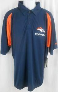 Denver Broncos NFL Dri Fit Polo Golf Shirt Stay Cool   Dry Big ... 2cd4328e5