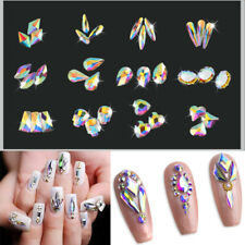20pcs Nail Art Rhinestones Glitter Diamond Crystal Gem 3D Tips DIY Decoration Sd