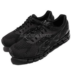 Asics-Gel-Quantum-360-Knit-Black-Grey-Men-Running-Shoes-Sneakers-T728N-9099