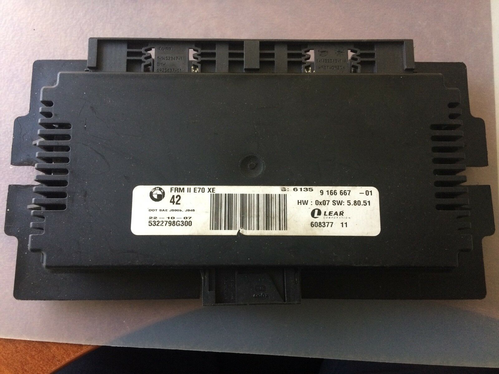 Genuine Bmw E70 X5 Frm Footwell Module 9166667 Ebay Location Norton Secured Powered By Verisign