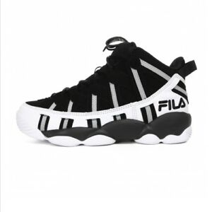 Details about FILA SPAGHETTI 95 Men's Basketball Sneakers Shoes - Black/White(FS1HTA1011X)