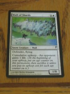 1x Wall of Shards, MP, Coldsnap, Defender EDH Commander Snow Toughness Flying