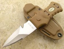 McNett Tactical Utility Boot Knife Coyote Brown Disassembles Glass Breaker