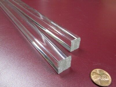 "x 6/' Lengths 5//8/"" 2 Units Clear .625/"" Acrylic Square Extruded Rods Bar"