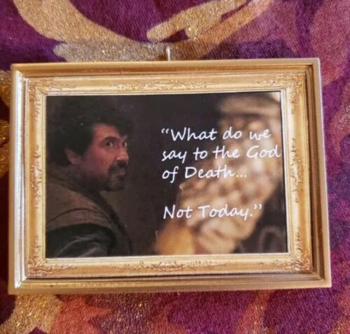 Not Today Syrio Forel Game Of Thrones Christmas Ornament//Magnet//DHM//Wall Art