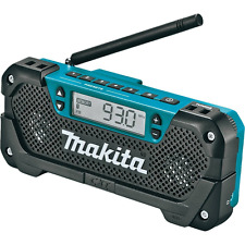 Makita RM02 12V max CXT Lithium-Ion Cordless Compact Job Site Radio, Tool Only