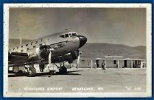 RPPC WENATCHEE WA AIRPORT WITH NORTHWEST AIRLINES PASSENGER PLANE