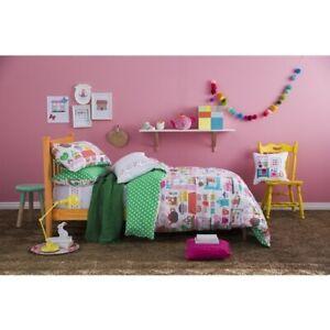 KAS-Kids-Tea-Party-Time-Double-Quilt-Duvet-Cover-amp-Embroid-Cushion-Set