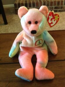 4caed360eec Peace ty Beanie Baby - Rare   Retired w  Punctuation Errors