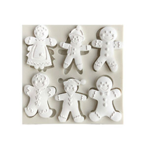 Christmas-Snowman-Silicone-Fondant-Mold-Cake-Decorating-Tool-Chocolate-Moul-JF