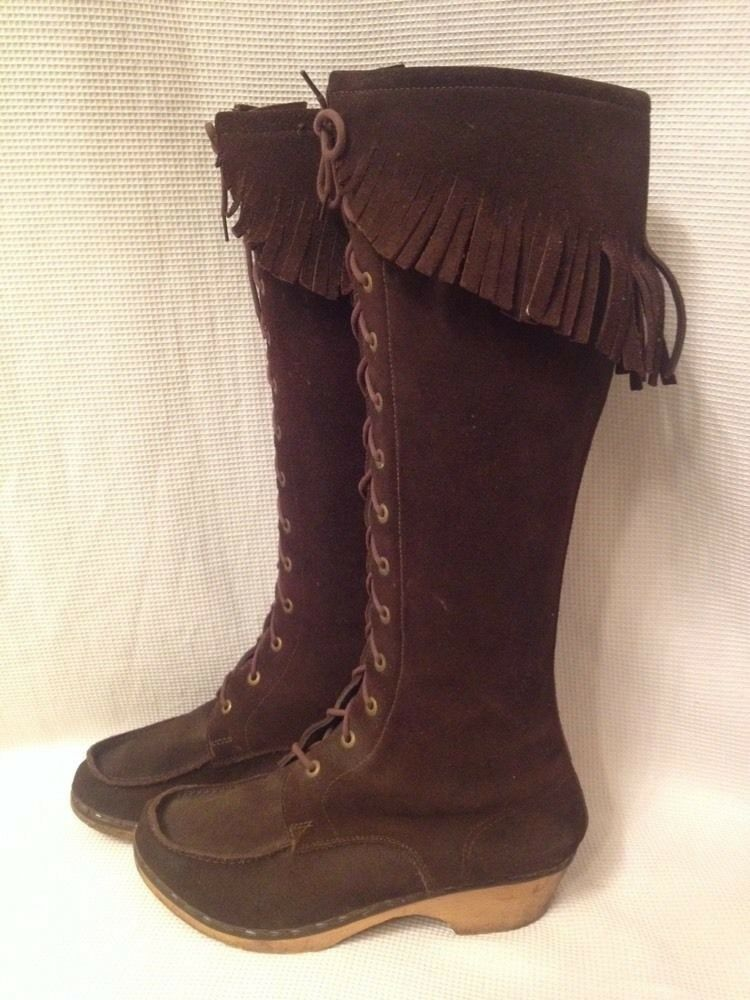 Madsen & Winkle Swedish Clogs Boots Size 35 - Fit Size 5 - Like Swedish Hasbeens