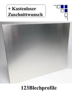 Aluminiumblech foliert Alu Zuschnitt 1-4mm Alublech Platte Aluplatte Aluminium