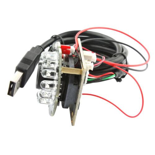 2MP Full-HD CCTV 1080P USB Camera Module Board 12 IR LED Night Vision 2.1mm Lens