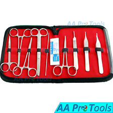 Basic Dissecting Kit 14 Pieces Veterinary Surgical Instruments Surgery Set
