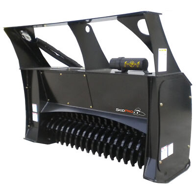 "Forestry Mulcher 48"" Low-Flow Skid Steer Loader Attachment Bobcat Kubota Gehl"