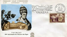 FRANCE FDC - 649 1562 2 ENCLAVE DES PAPES A VALREAS - flamme 25 Mai 1968