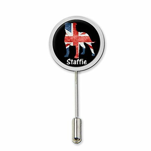Staffie Staffordshire Bull Terrier Stick Pin Tie Pin Badge With Protector c400