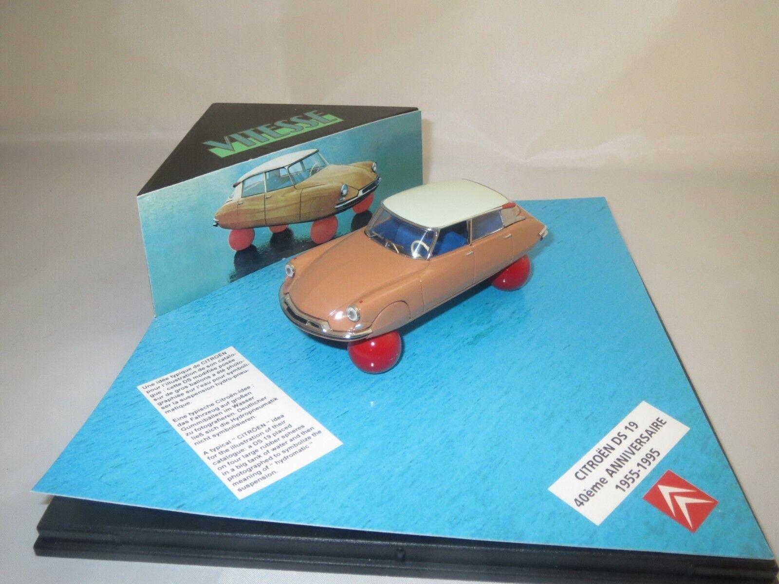 Vitesse Citroen DS 19 40ème anniversaire  1955-95  (Marronee) 1 43 en vitrina