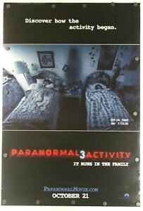 Paranormal Activity 3 2011 Double Sided Original Movie Poster 27 X 40 Ebay