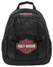 Harley-Davidson Bar & Shield Day Back Pack, Orange Logo, Black BP1968S-ORGBLK