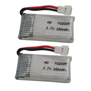 2pc 3.7V 25C 380 mAh Li-po battery For Syma X5C-1 X8tw X5SW part Drone RC 702035