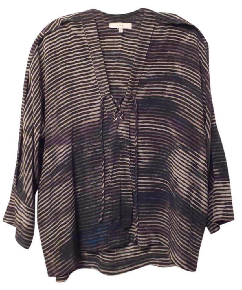 Gorgeous IRO Silk OverGrößed Tunic Top Größe 6   FR Größe 38