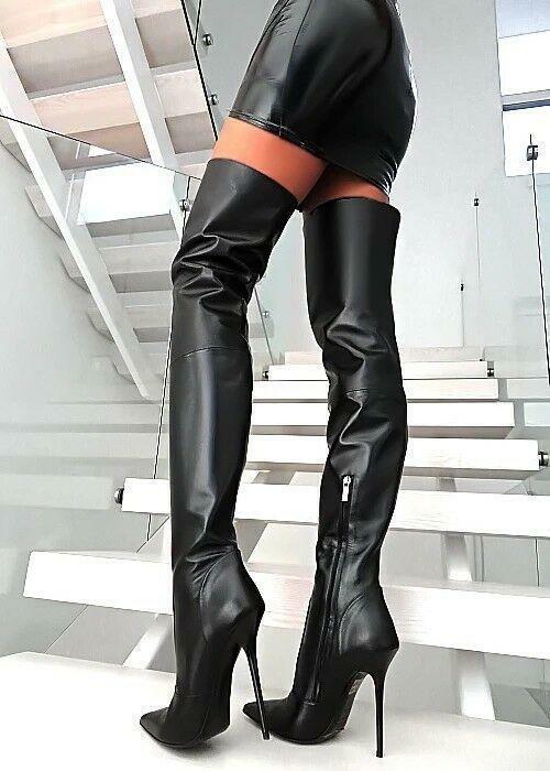 Overknee Stiefel COURTLY 3012 Satin schwarz