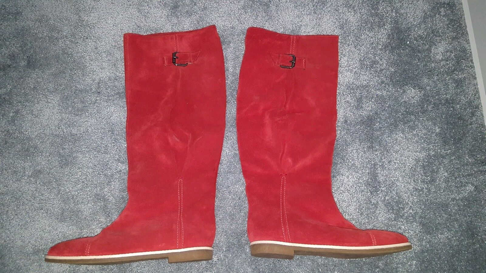 United Colours Of Benetton ROT Stiefel Größe 6