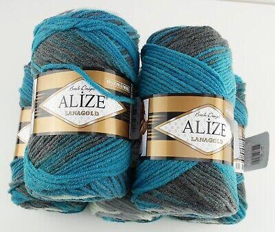 ALIZE 3x 100 G Lanagold Premium laine 49/% laine 51/% AcryliqueCherry 390à la main