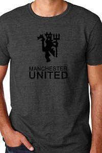 34a9dd620fc Manchester United ManU FC Grey Soccer T Shirt Custom Gildan Unisex ...