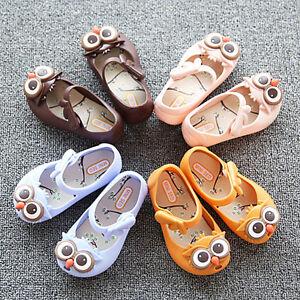 Hotsale Summer Cute Cartoon Owl Jelly Kids Shoes Toddler