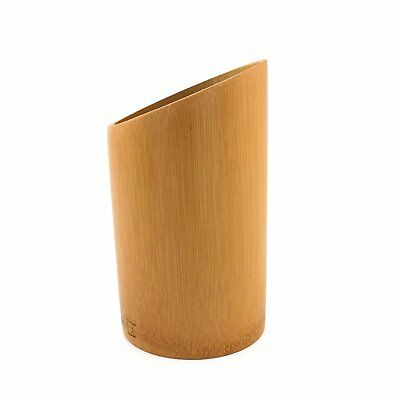 Carbonized Brown BambooMN Bamboo Kitchen Utensil Holder 1 Piece