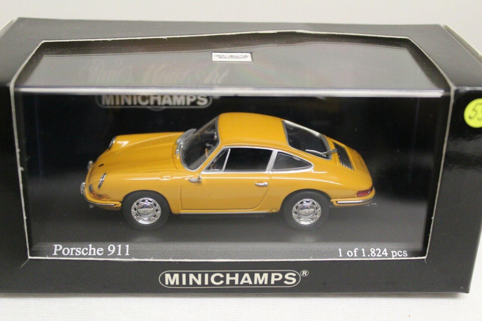 Minichamps Porsche 911 Coupe Bahamagelb F-Model 1 43 NEU 430067124 Ölklappe