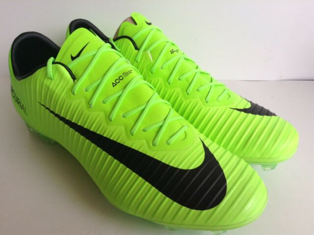 3c5f4ada3d8c10 Nike Mercurial Vapor XI FG 831958-303 Electric Green Men s Soccer Cleats Sz  13