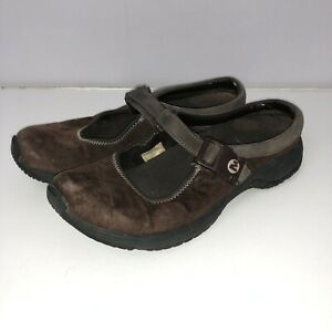 Merrell-Encore-Breeze-Mary-Jane-Mocs-Womens-Size-7-5-Brown-Mesh-Slip-On-Loafers